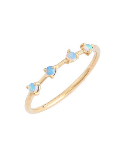 Wwake - Metallic Counting Collection 4-step Opal Ring - Lyst
