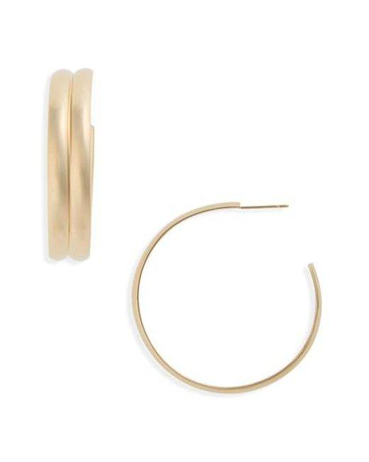 Lana Jewelry - Metallic Double Curve Wide Hoop Earrings - Lyst