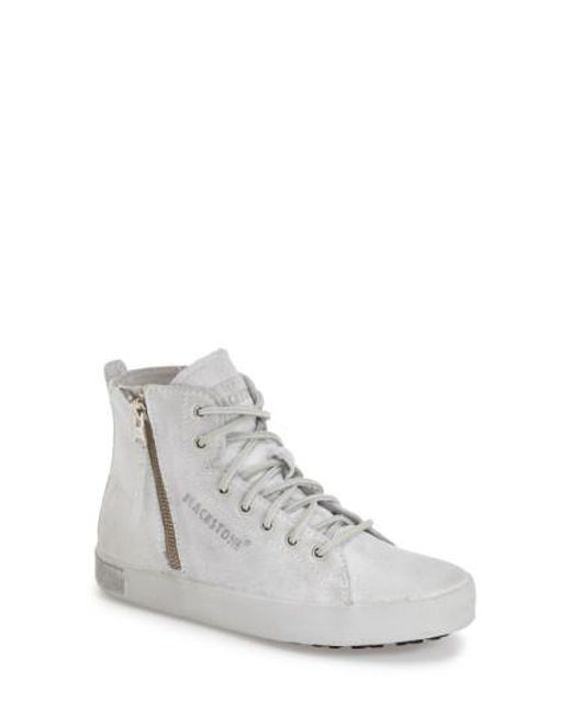 Blackstone - White KL57 Leather High-Top Sneakers for Men - Lyst