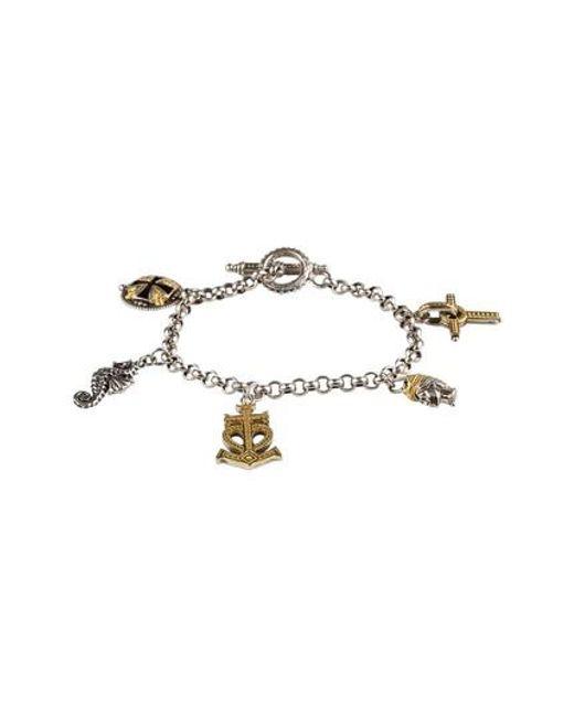 Konstantino | Metallic Gaia Charm Bracelet | Lyst