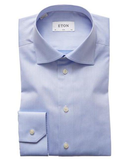 Eton of Sweden | Blue Slim Fit Dress Shirt for Men | Lyst