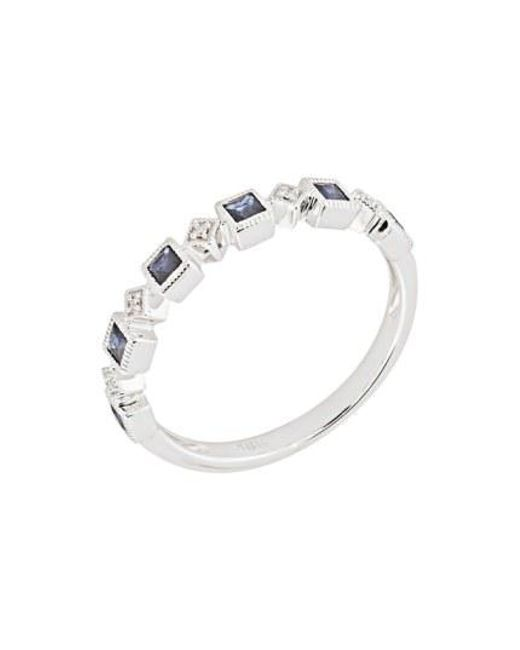 Bony Levy - Metallic Stackable Diamond & Sapphire Band Ring (nordstrom Exclusive) - Lyst