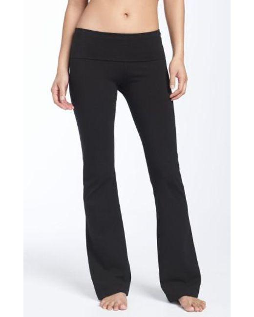 Hard Tail | Black Roll Waist Bootleg Flare Pants | Lyst