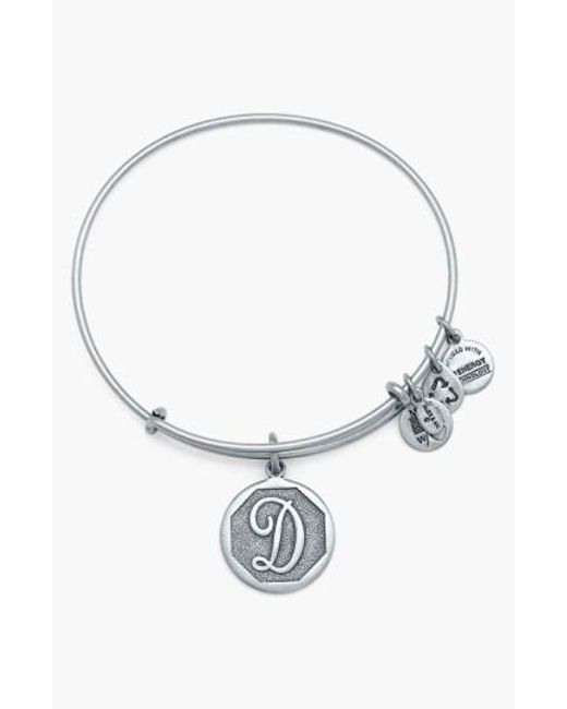 ALEX AND ANI | Metallic 'initial' Adjustable Wire Bangle | Lyst