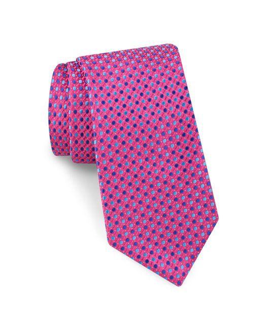 Ted Baker - Pink Alternating Dot Silk Tie for Men - Lyst