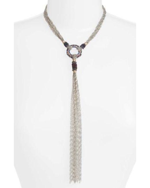 Nakamol - Metallic Chain Y Necklace - Lyst