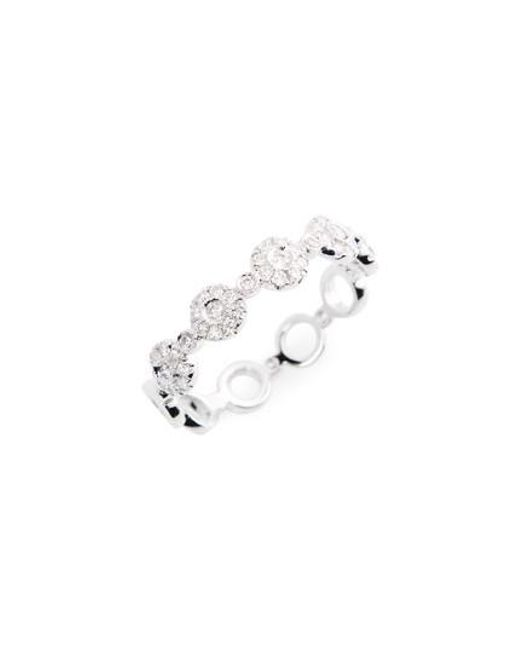 Bony Levy | White Adina Stackable Round Diamond Ring (nordstrom Exclusive) | Lyst