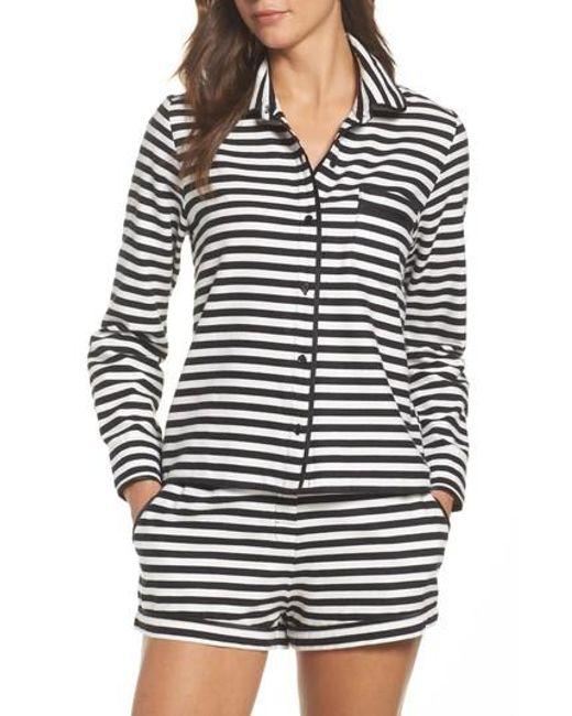 Kate Spade | Black Short Pajamas | Lyst