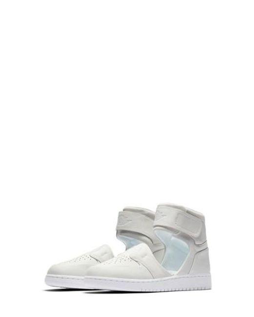 lyst nike air jordan 1 amante xx cinturino alla caviglia di scarpe da ginnastica in bianco