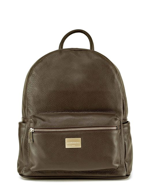 Montezemolo - Red Leather Backpack for Men - Lyst