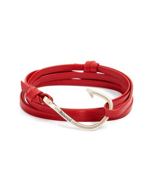 Miansai | Red Hook Leather Bracelet for Men | Lyst