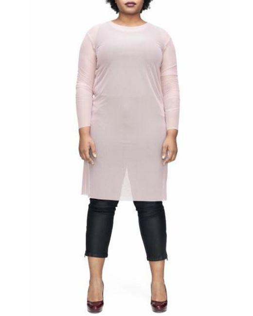 UNIVERSAL STANDARD - Pink Thames Fog Sheer Dress - Lyst