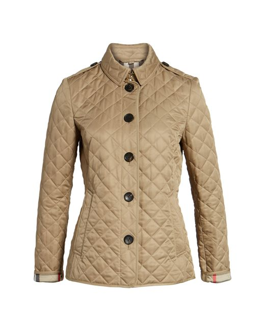 Burberry - Brown 'ashurst' Quilted Jacket - Lyst