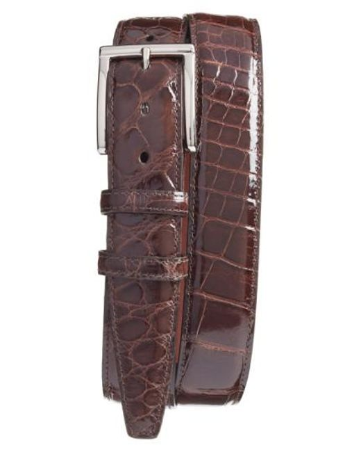 Torino Leather Company | Brown Genuine American Alligator Leather Belt for Men | Lyst