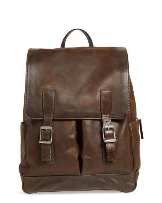 Frye - Brown Oliver Leather Backpack - Lyst