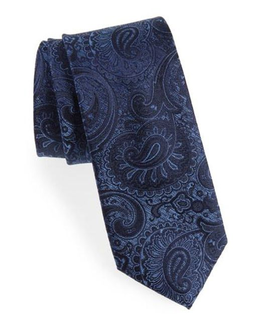 Calibrate - Blue Berwyn Paisley Silk Tie for Men - Lyst
