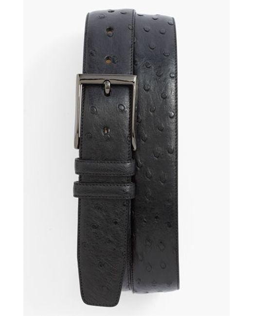 Mezlan | Black Ostrich Belt for Men | Lyst