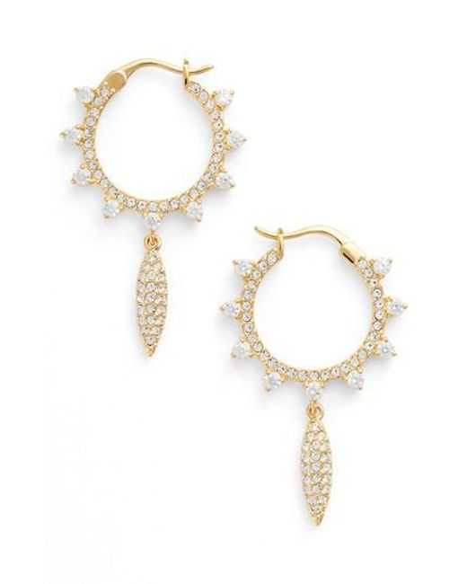 Nadri | Metallic Cardamom Charm Hoop Earrings | Lyst