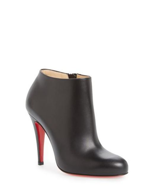 Christian Louboutin Round-Toe Patent Leather Booties extremely for sale 2014 new sale online shop offer cheap price kiJnay9lS7