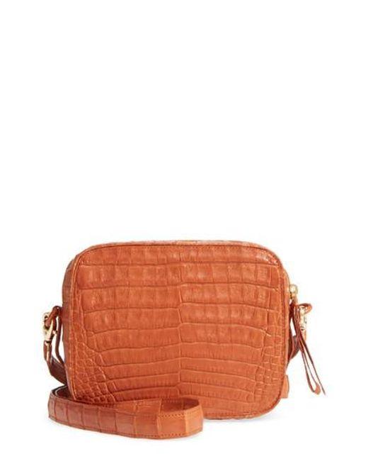 Nancy Gonzalez | Orange Genuine Crocodile Crossbody Bag | Lyst