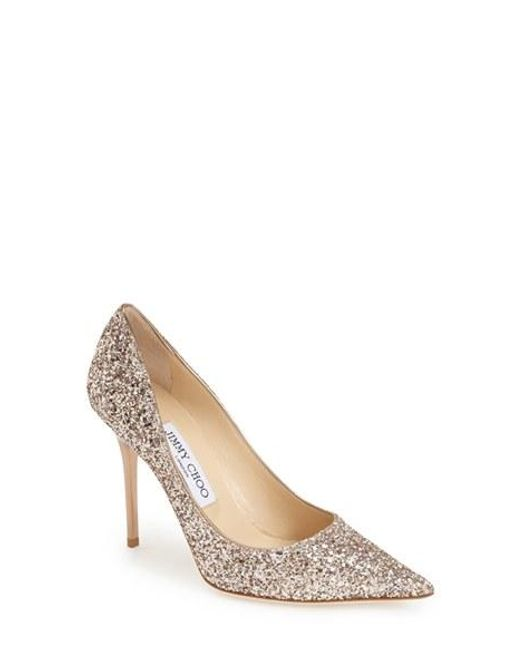 Jimmy Choo | Metallic 'abel' Pointy Toe Pump | Lyst