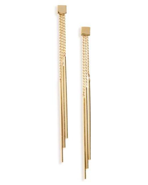 Panacea | Metallic Linear Drop Earrings | Lyst