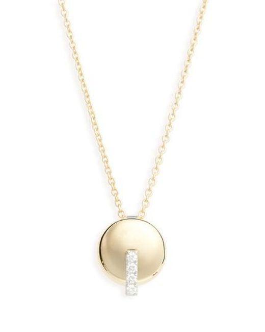 Roberto Coin - Metallic Diamond Pendant Necklace - Lyst
