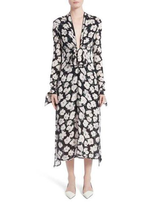 Frayed Printed Silk Midi Dress Proenza Schouler Low Shipping Fee Cheap Price Geniue Stockist Sale Online Sale Shopping Online AvTCM1