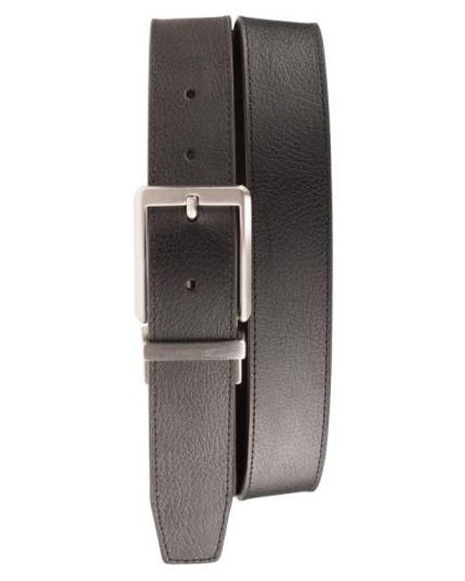 Nike | Black 'core' Reversible Leather Belt for Men | Lyst