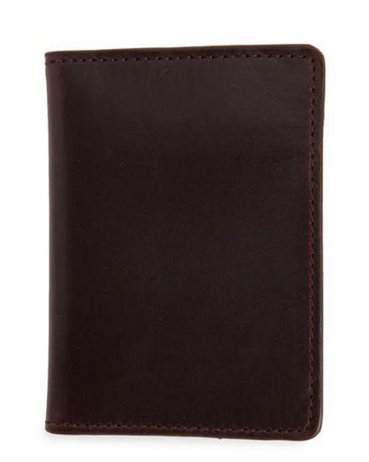 Nordstrom - Black Darien Leather Bifold Card Case - Burgundy - Lyst