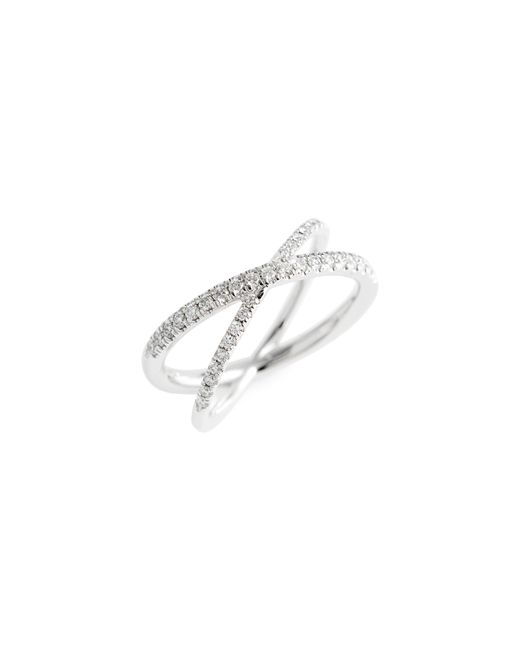 Roberto Coin - Metallic Diamond Crisscross Ring - Lyst