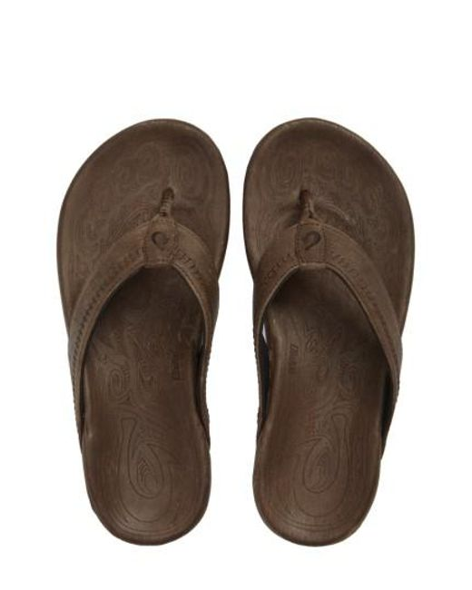 Olukai | Brown 'hiapo' Flip Flop for Men | Lyst
