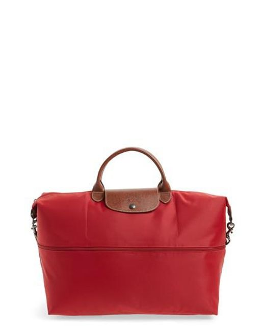 Longchamp | Red 'le Pliage' Expandable Travel Bag | Lyst