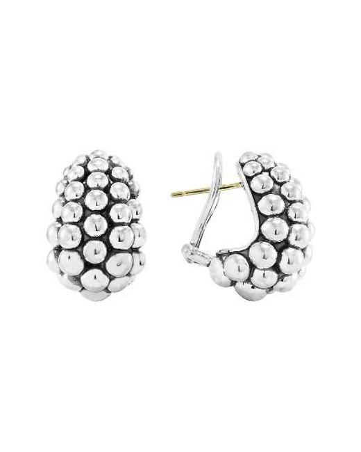 Lagos | Metallic 'bold' Caviar Hoop Earrings | Lyst