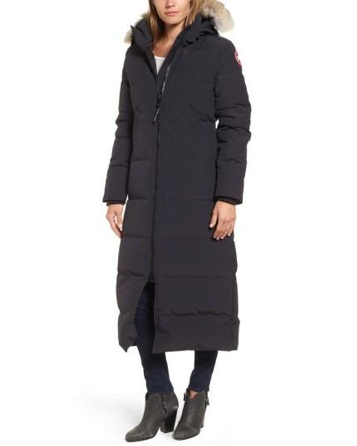 Canada Goose | Multicolor 'mystique' Regular Fit Down Parka With Genuine Coyote Fur Trim | Lyst