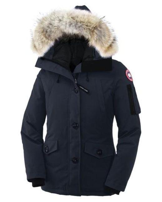 Canada Goose | Blue 'Montebello' Down Parka With Genuine Coyote Fur Trim | Lyst