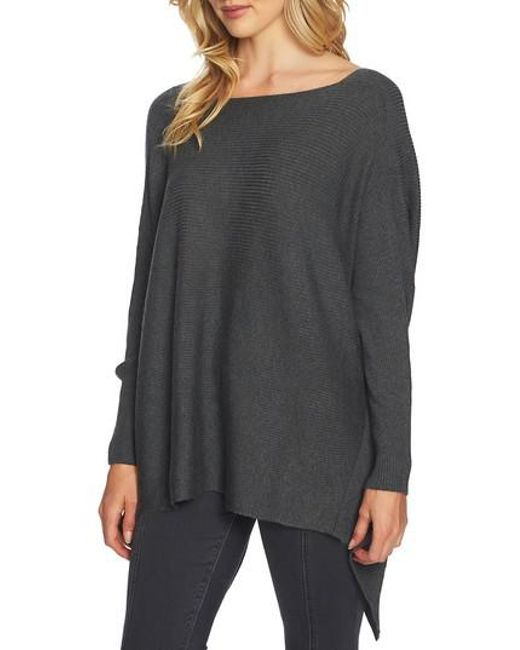 1.STATE | Gray Knot Back Sweater | Lyst