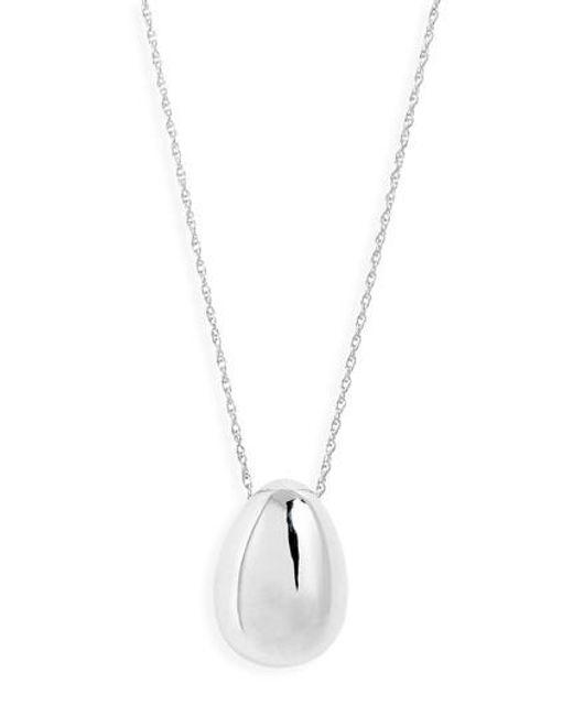 Sophie Buhai - Metallic Everyday Egg Pendant Necklace - Lyst