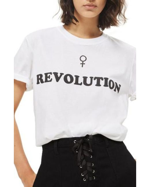 TOPSHOP | White Female Revolution Graphic Tee | Lyst