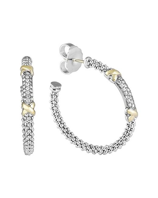 Lagos | Metallic 'diamond Lux' Diamond Hoop Earrings | Lyst