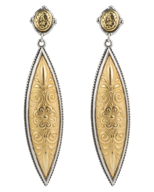 Konstantino - Metallic Gaia Drop Earrings - Lyst