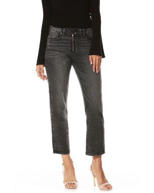 PAIGE - Multicolor Noella Crop Straight Leg Jeans - Lyst