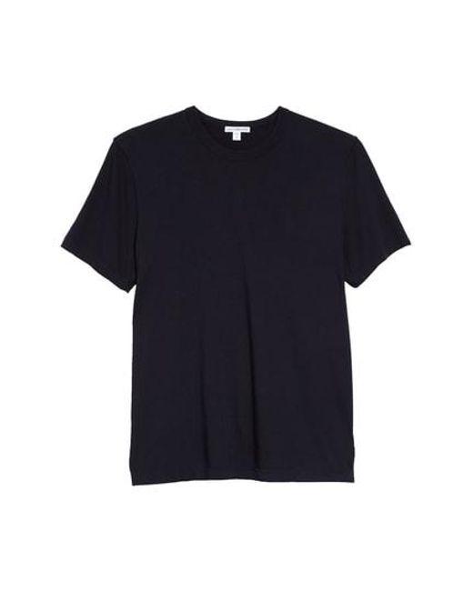 James Perse - Blue Crewneck Jersey T-shirt for Men - Lyst