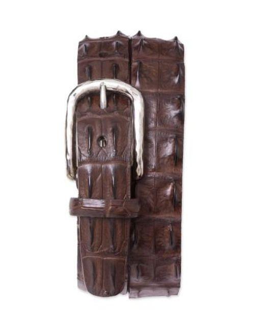 Torino Leather Company - Brown Hornback Crocodile Leather Belt for Men - Lyst