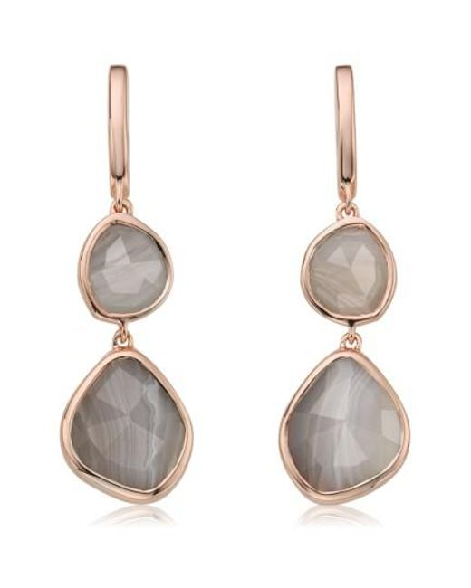 Monica Vinader | Multicolor Siren Semiprecious Stone Drop Earrings | Lyst