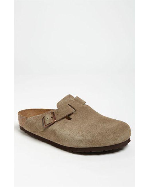 Birkenstock | Brown 'boston Soft' Clog for Men | Lyst