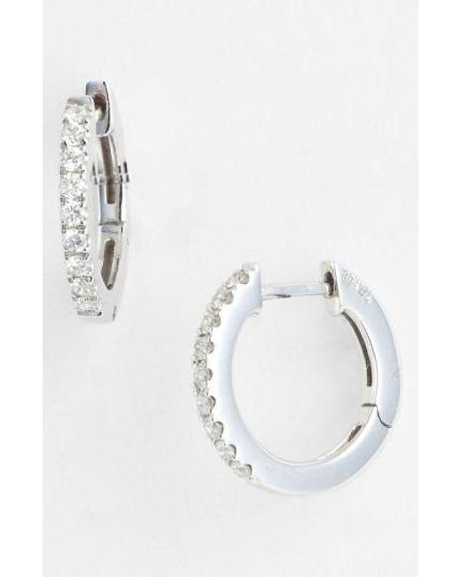 Bony Levy   White Diamond Hoop Earrings (nordstrom Exclusive)   Lyst