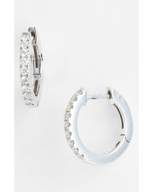 Bony Levy | Metallic Diamond Hoop Earrings (nordstrom Exclusive) | Lyst