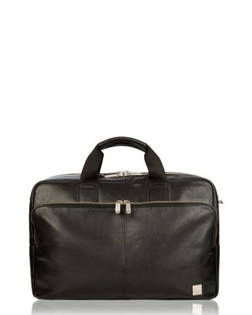 Knomo - Black Brompton Amesbury Leather Briefcase - for Men - Lyst