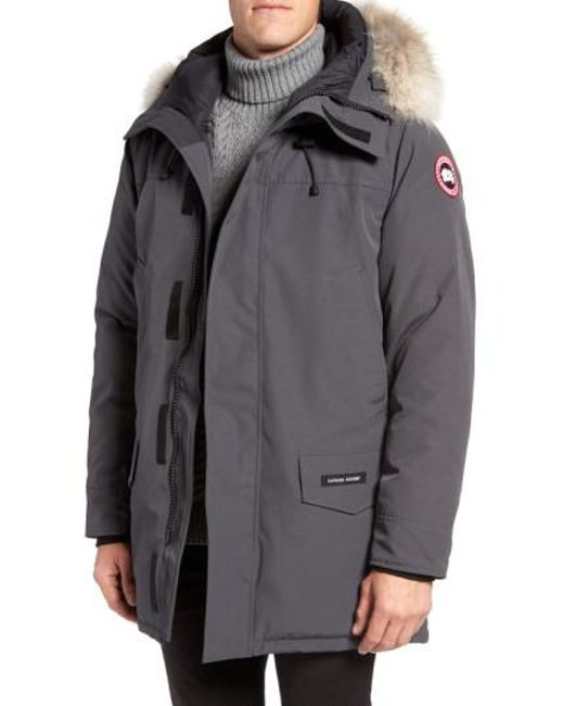 Canada Goose - Black Langford Slim Fit Down Parka With Genuine Coyote Fur Trim for Men - Lyst